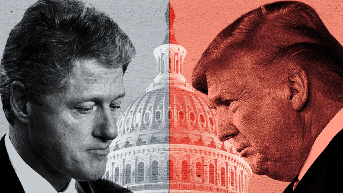 Impeachments of Trump and Clinton are similar, but differences remain
