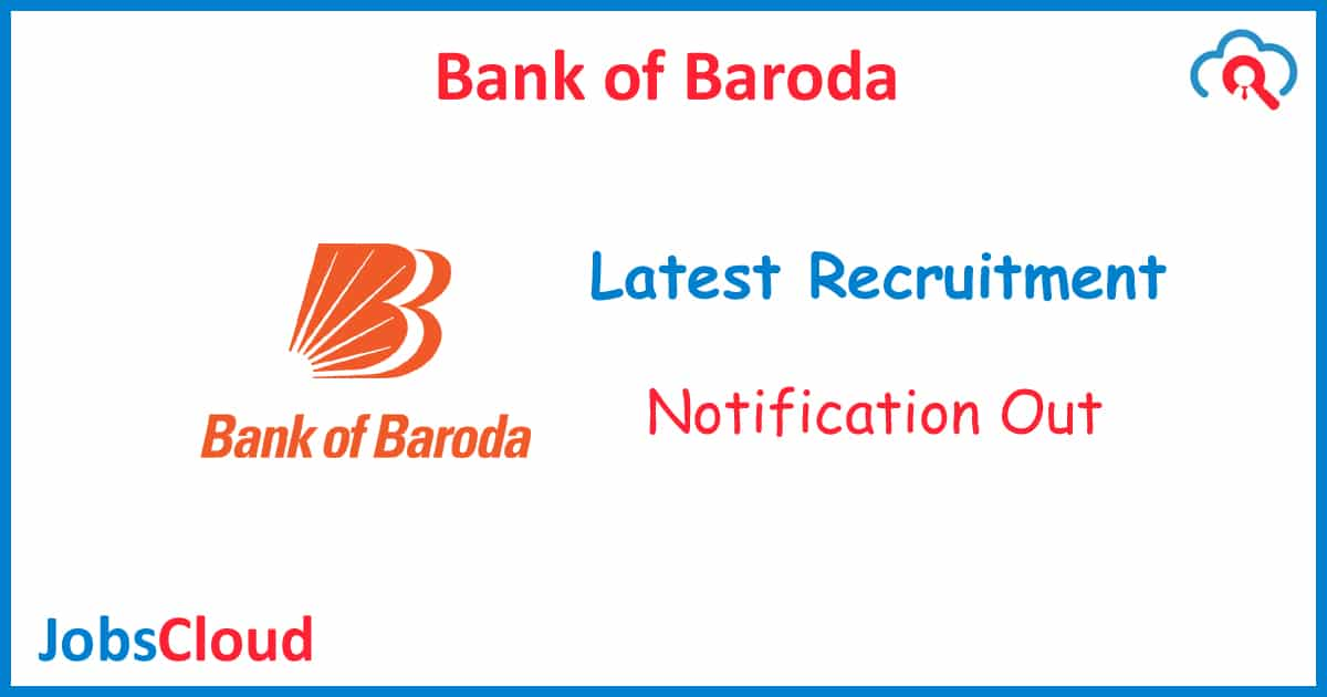 Bank of Baroda Chief Risk Officer Recruitment 2020 - 01 Post
