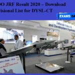 DRDO JRF Result 2020 OUT – Download Provisional List for DYSL-CT