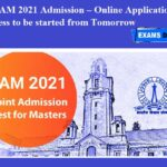 IIT JAM 2021 Admission – Online Application Process to be started from Tomorrow