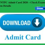 RRB NTPC Admit Card 2020 – Check Exam Pattern Details