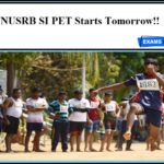TNUSRB SI PET Starts Tomorrow!! TN Covid Test Report to be send to the Board
