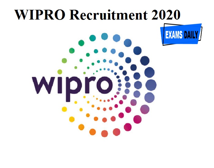 WIPRO Recruitment 2020 Out – Apply Online!!