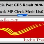 India Post GDS Result 2020- Check MP Circle Merit List!!