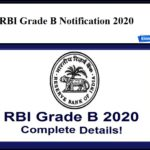 RBI Grade B Notification 2020 – Check Eligibility & Other Details Here!!