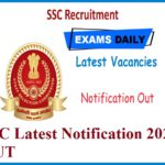 SSC Latest Notification 2020 OUT – Check Eligibility, Apply Online Here!!!