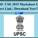 UPSC CSE 2019 Marksheet Out- Direct Link Download Now!!!