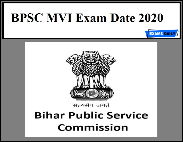 BPSC MVI Exam Date 2020 Out – Download Motor Vehicle Inspector Admit Card!!