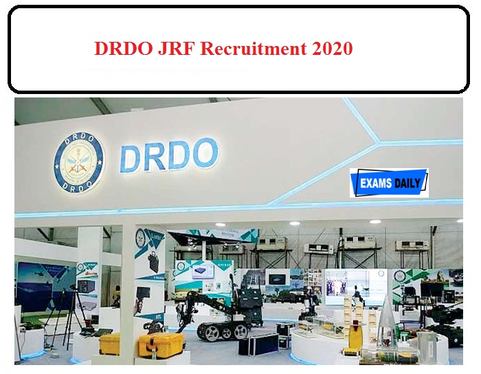 DRDO JRF Recruitment 2020 OUT