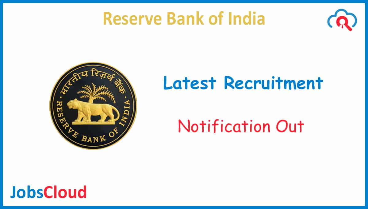 RBI Part-Time Bank's Medical Consultant Recruitment November 2020 – 01 Posts