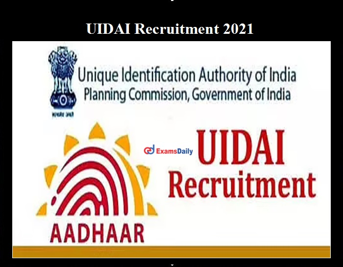 UIDAI Manager Vacancies 2021 OUT