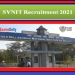 SVNIT Recruitment 2021 Out – Salary Upto Rs.67, 000 per month Apply Here 67 Vacancies