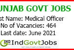 Punjab Government Jobs 2021 Walk in Interview 464 Medical Officer Vacancies